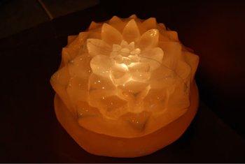 Himalayan Salt Lotus Flower Lamp