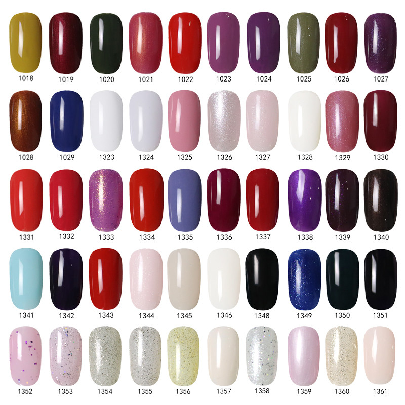 2016 New Spring Hot Fashion Colors Glimmer Glitz Gel Polish Uv Gel ...