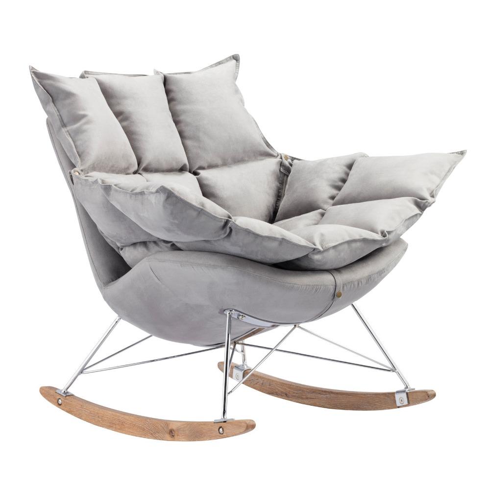 amrica del estilo de la vendimia mecedora sof de madera slida y la base