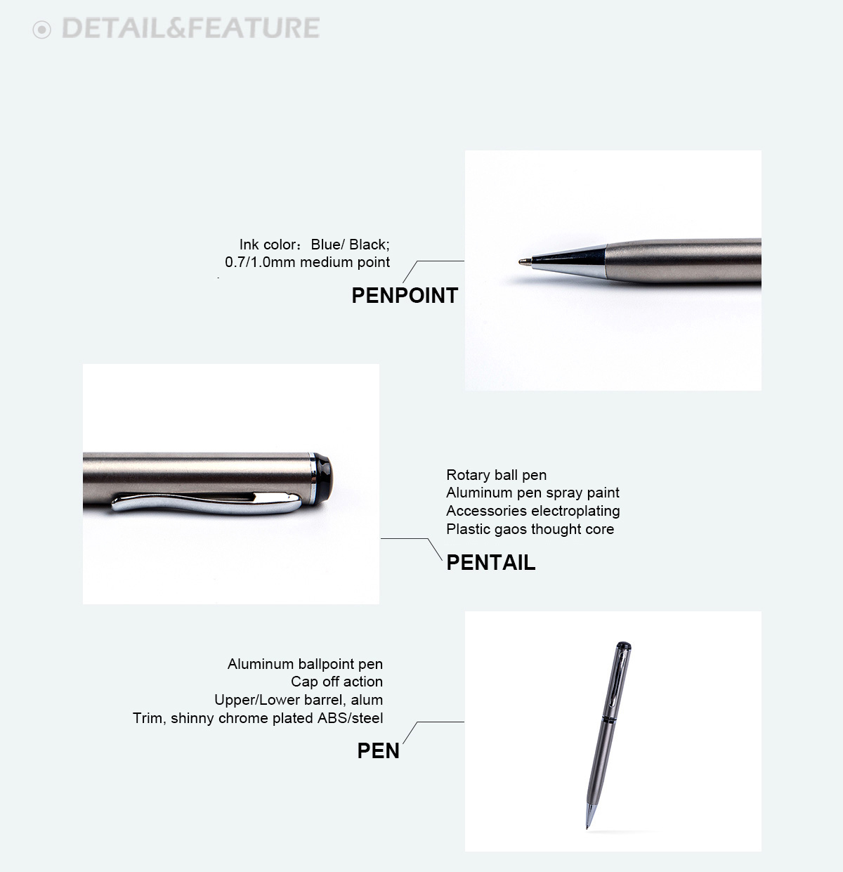 Classic design twist metal gift ball pen in rubber coated finish