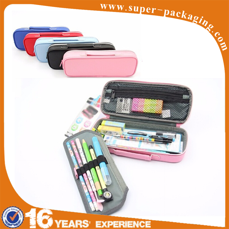 New design top quality students leather fancy multifunction multipurpose pencil box