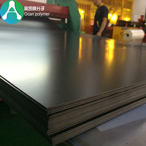 Vacuum Forming 150 Micron Recycled Plastic Rigid Black UV PVC plastic Sheet For Agriculture