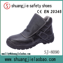 cheap action black leather buffalo leather safety shoes without lace