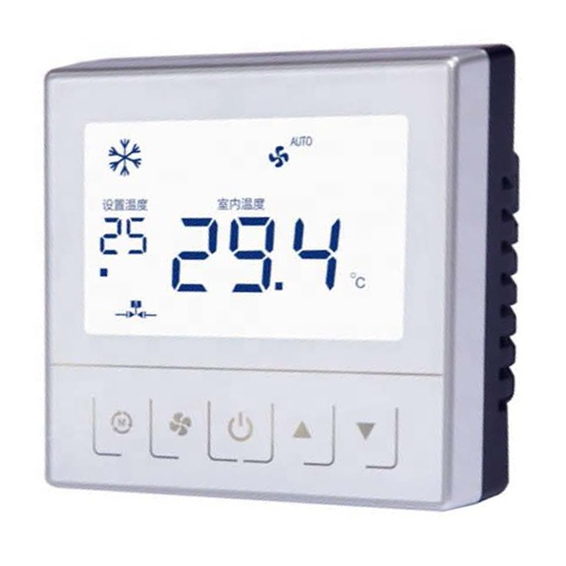 Smart Touch Screen 0-10V Modulating Fan-coil Thermostat with Modubus RS485 RTU