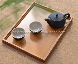 rectangle New style low price solid material cheap wooden serving tray