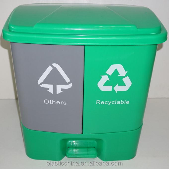 Recyclable and Non-Recyclable marks plastic 20L 40L waste separation bin