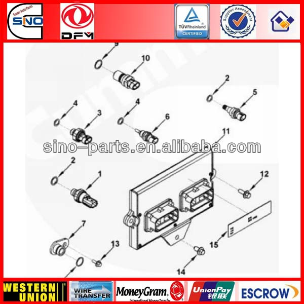 Cummins Truck Spare Parts ECM ISF3.8 B5.9 ISB 3947912