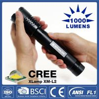 EDC latest ultra bright cree led military flashlight/torch