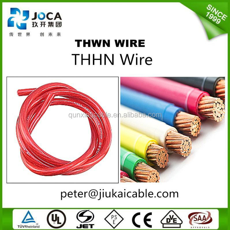 0.6/1kv Thw Tw Thwn Thhn Electrical Copper Wire 1.5mm2 2.5mm2 4mm2 ...