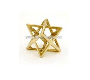 Wholesa Fashion Merkaba Jewelry Zinc Alloy Metal Gold Plated Merkaba Pendant