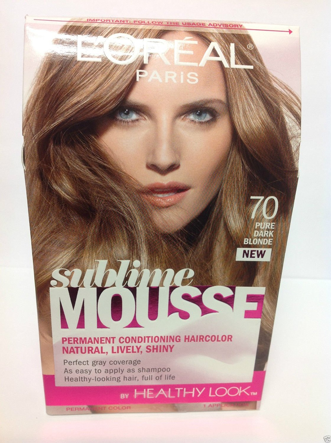 L Oreal Sublime Mousse By Healthy Look Hair Color Pure Dark Blonde 70