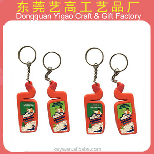 Factory custom magnetic keychain / PVC custom magnetic key ring