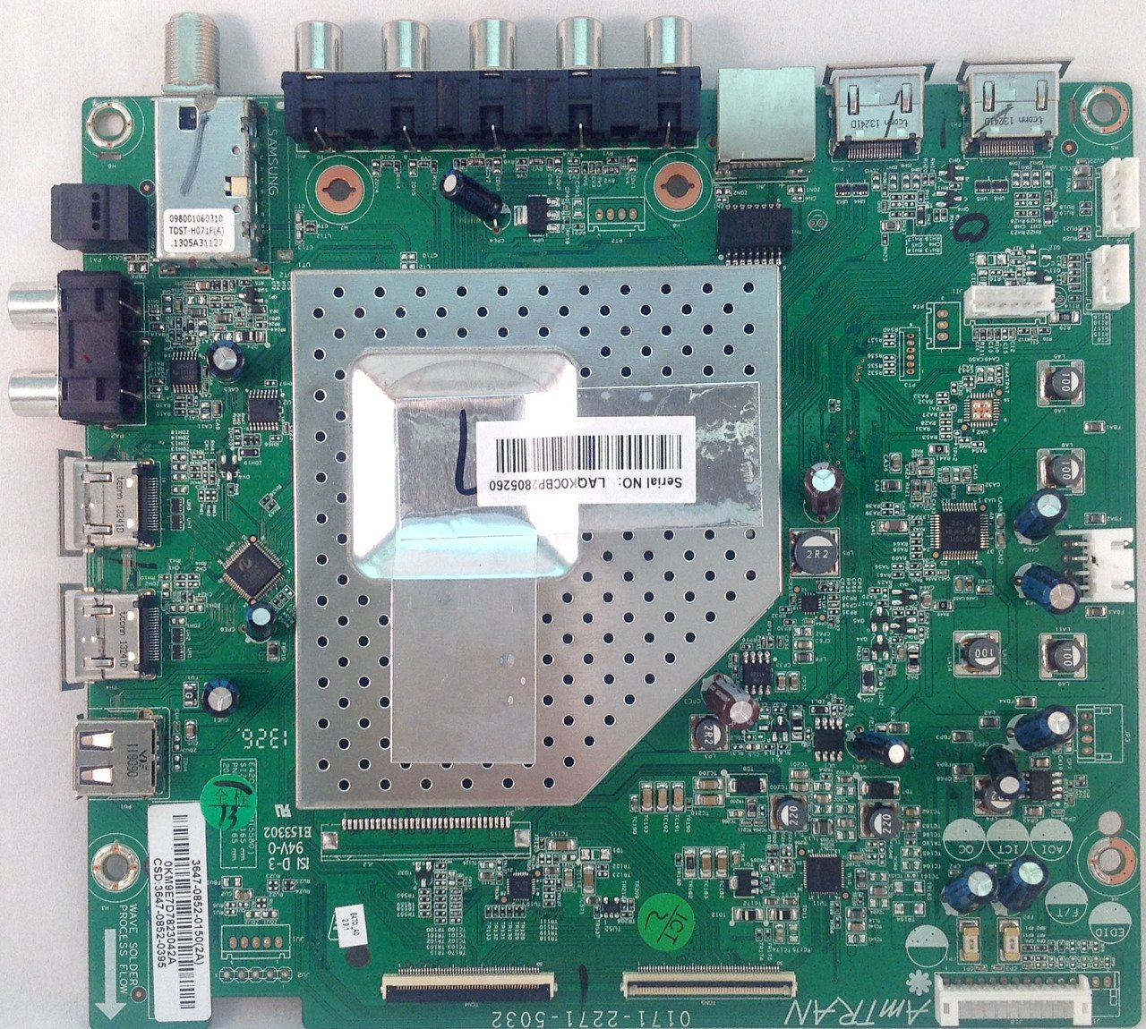 Vizio Main Board 3647-0852-0150 for E470i-A0 (0171-2271-5032)
