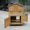 Small raised wooden hen house with big nesting box CC014