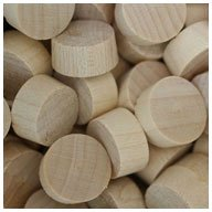 "WIDGETCO 1/2"" Maple Wood Plugs, End Grain"