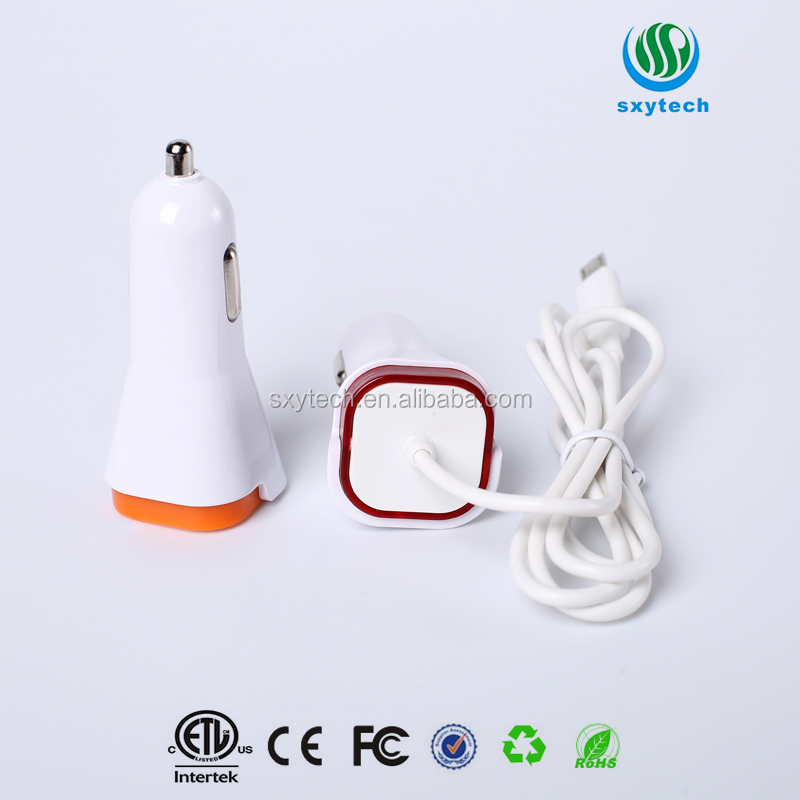 2017 hot sale mobile phone usb car charger dual usb charger review with wholesale price