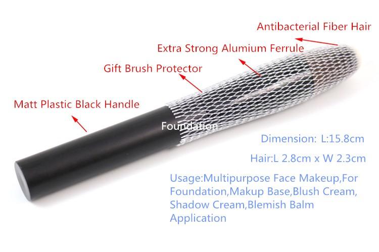 העליון השטוח קרן מברשת רב-תכליתי הפנים מברשת איפור