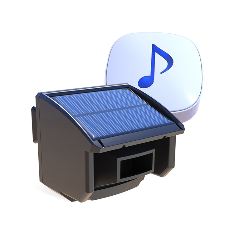 Solar Wireless Outdoor Weatherproof Motion Sensor&amp;Detector DIY Driveway Alarm System <strong>For</strong> Driveway,<strong>Home</strong>,Outside Property, and etc