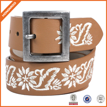 Handmade Genuine Leather Buyers Needlepoint Belt for Ladies