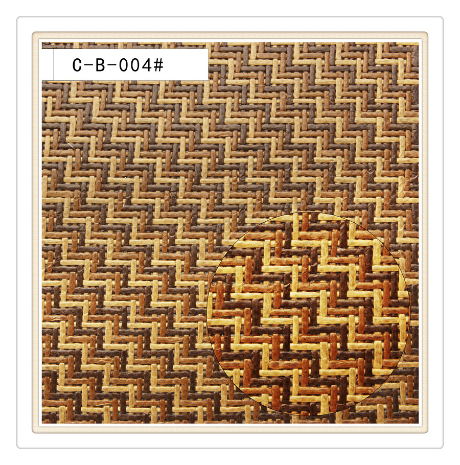 Factory supplier paper fabric by wove papyrus straw fabric for bag