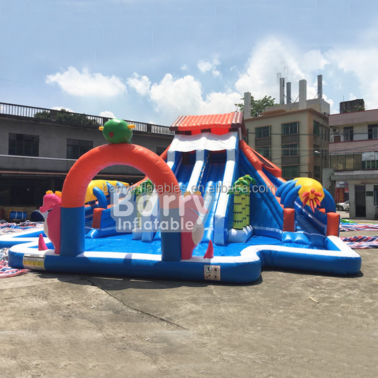 2017 blow up water pool slide , commercial backyard inflatable water park for kids