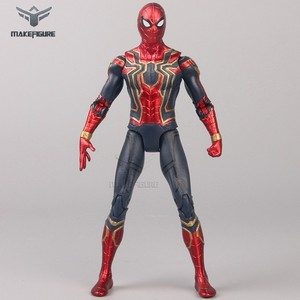 customized 6inch superhero action figure toy, high quality spiderman movable action figure, custom made movable action figure