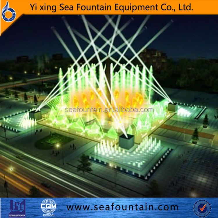 Standing fountain color changing standing water fountain