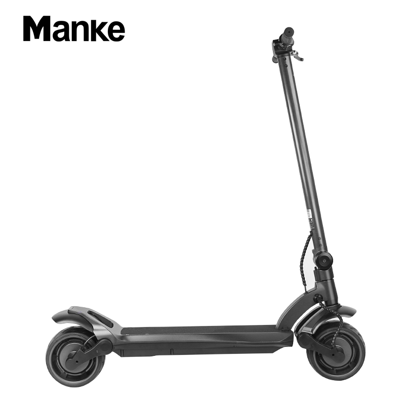 Manke MK109 Factory Directly selling 500W Dual Motor Electric Kick Scooter 8 Inch Wide Wheel Folding Kick E-scooter for Adults, Black