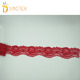 Fashion narrow red flower stretch lace trim for garment