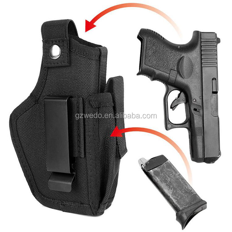 Tactical Concealed Gun Holster for Women & Men, Glock 17 19 Holster for sub compact to Large Handgun Pistol Holster