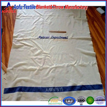 China blanket factory price 100 polyester forces navy blanket throw US navy army medical blankets