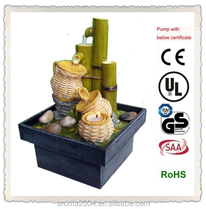 bamboo DC pump mini fountain electronic resin crafts