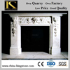 Hot Sale Cheap Price Hand Carved White Marble Fireplace KSFL070