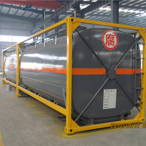 52cbm rubber lining 40ft iso tank container