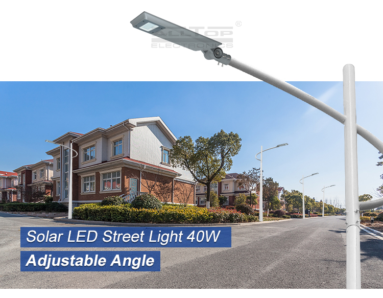ALLTOP Automatic ip65 rainproof smd 40w 60w 100w all in one solar led street light