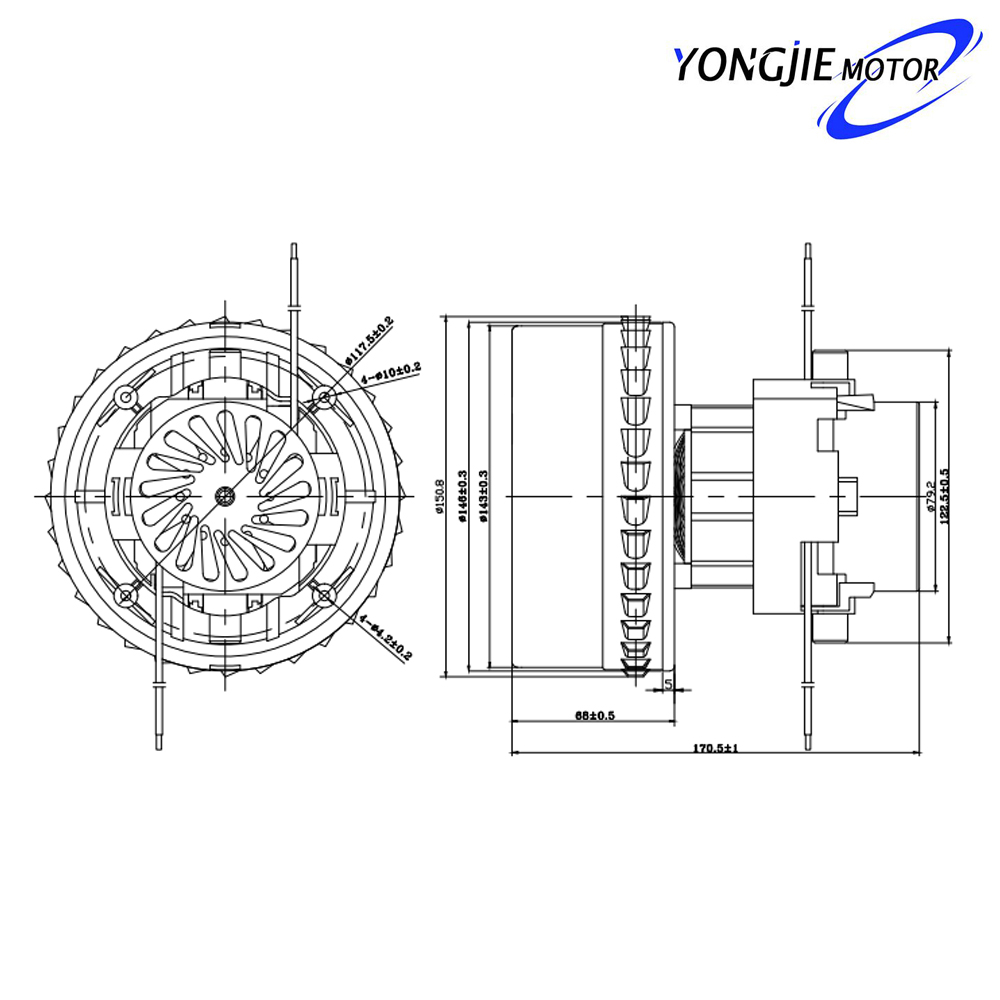 V4Z-A30 single phase vacuum cleaner motor,ac 1200w electric vacuum cleaner motor