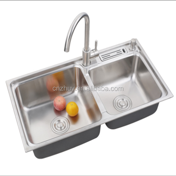 High Quality Double Bowl Undermount Kitchen 304 Multifunction Stainless Steel Sink with Knife Rack