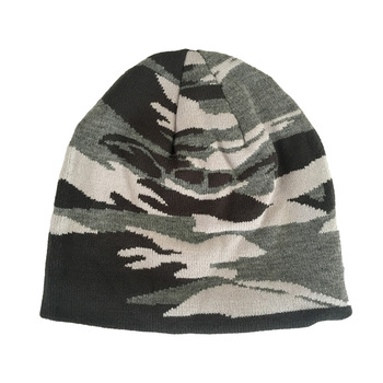dc0079752a8 Jacquard Black Wholesale Camo Beanie Hat