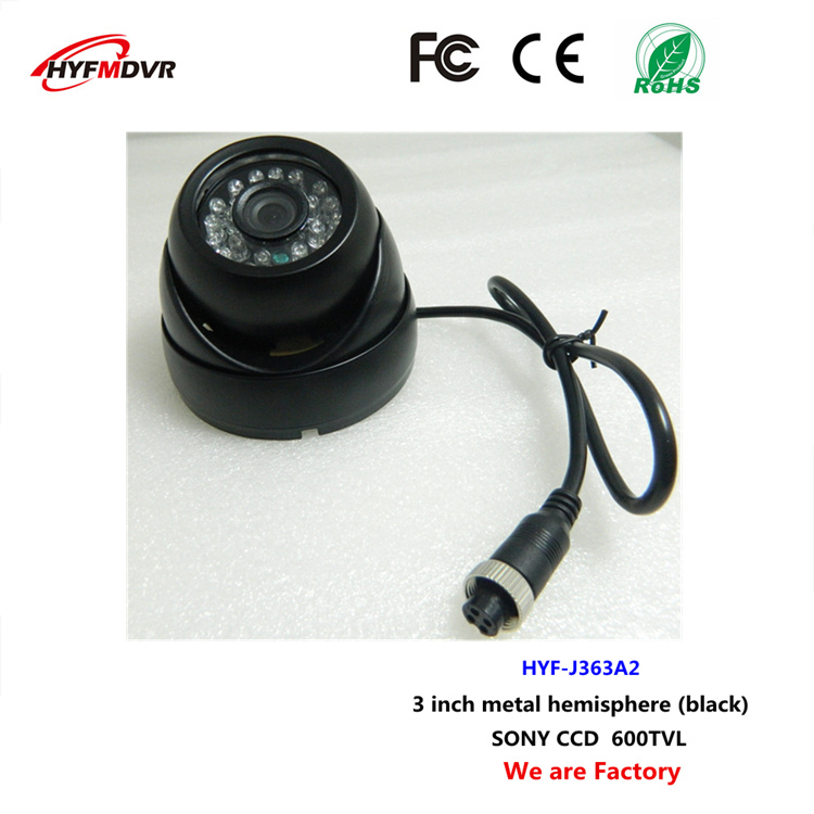 SONY camera CCD 600TVL monitor probe refrigerated vehicle 3 inch metal hemisphere equipment