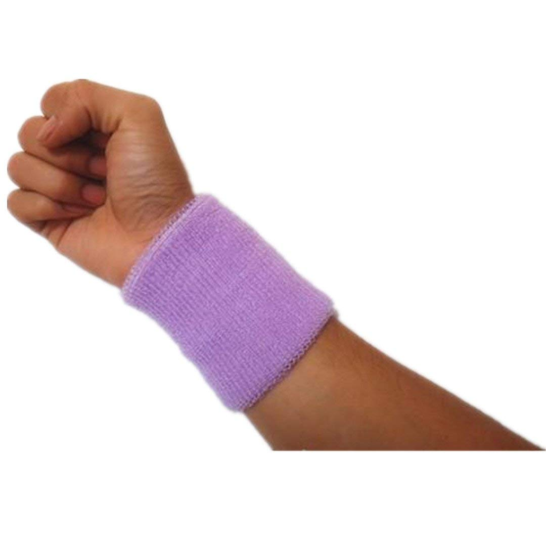 Kagogo 4 Inch Cotton Sports Wristband/Sweatband For Basketball Tennis And Other Sports, Price/Pair