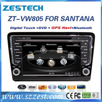 factory sale 2 din car stereo gps for VW santana Bora car stereo double din cd dvd player with gps navigation tv cd mp3/4,radios