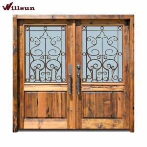 Luxury Villa Iron Front Door External Double Doors Front Entry Doors With Wrought Iron