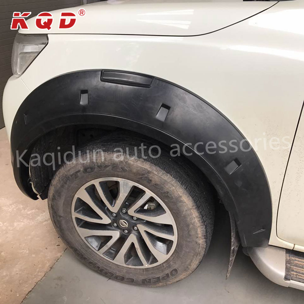 China manufacturer Hot selling ABS Plastic injection wheel fender flare for navara np300 2015~on navara np 300 parts