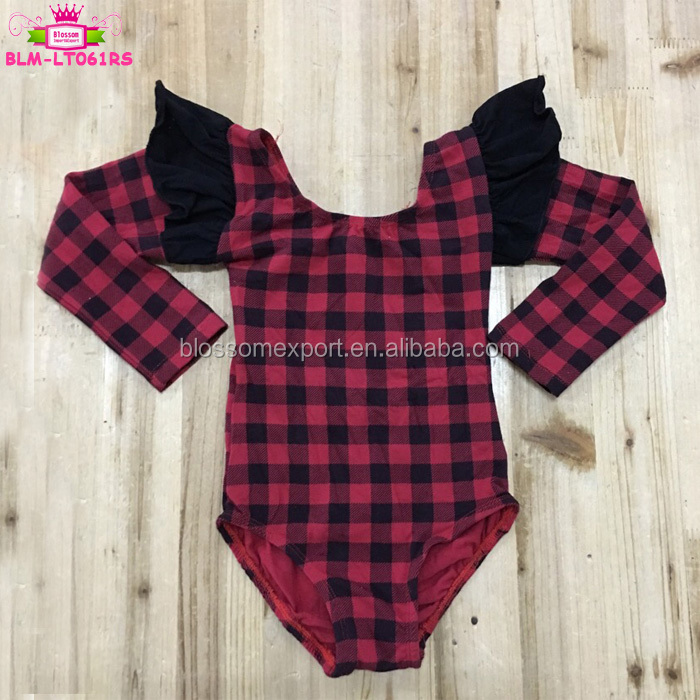 Kids Belly Dance Practice Wear Long Sleeve Flutter Baby Leotards Ruffle Sleeve Toddler Girls Classic Dance Leotard