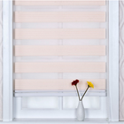 Zebra Blinds Double Layer Window Roller Blind Shade Curtains