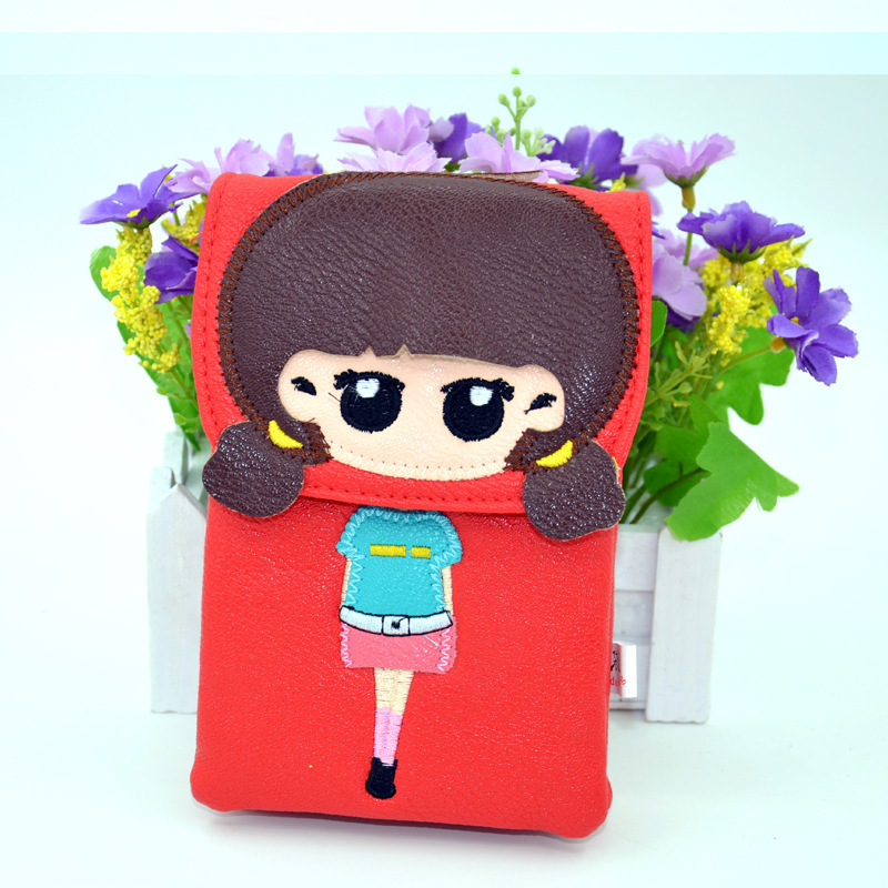 Girls Cute Messenger Bags PU Leather Crossbody Bags For Women Kids Cartoon Shoulder Bags orange red pink blue green purple