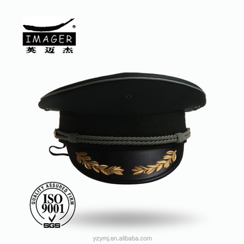 Honorable Air Force Air Commodore Cap with Black Strap and Gold Embroidery