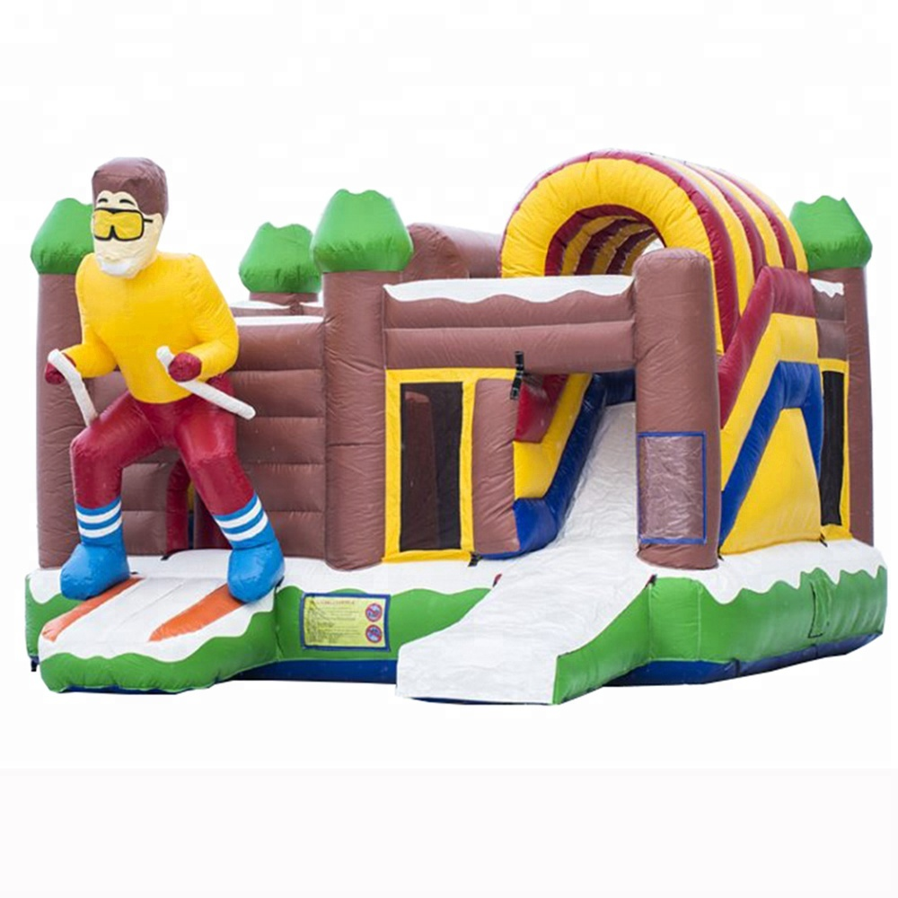 New product air bouncer / combo inflatable trampoline / skier jumper for sale