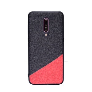 2 Parts Mixing Color Cloth Phone Case For Oneplus 7 Pro Mobile Shell Back Cover