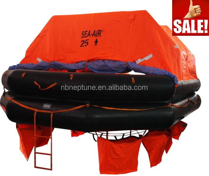 MED approved throwoverboard type Liferafts 25 person